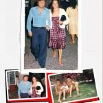 Foto di famiglia con moglie e figli